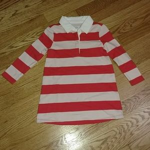NWT Old Navy long sleeve rugby striped dress 2T